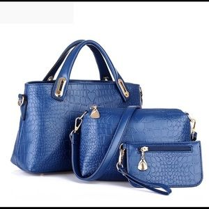 Women's set of 3 Convertible Bags Faux leather